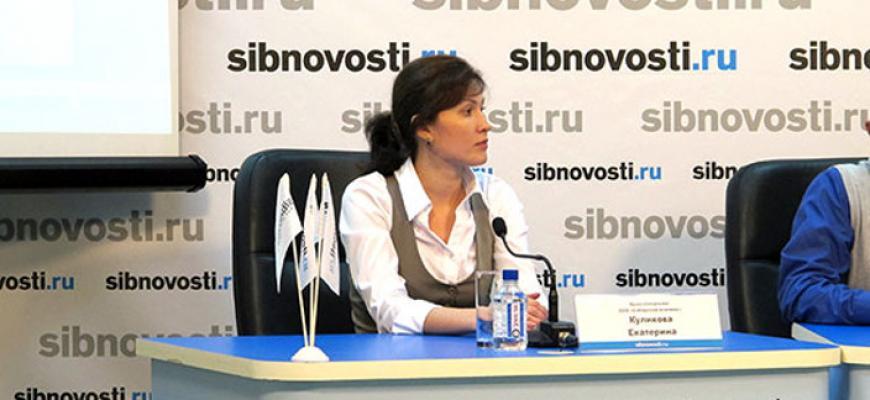 Екатерина Куликова на пресс-конференции